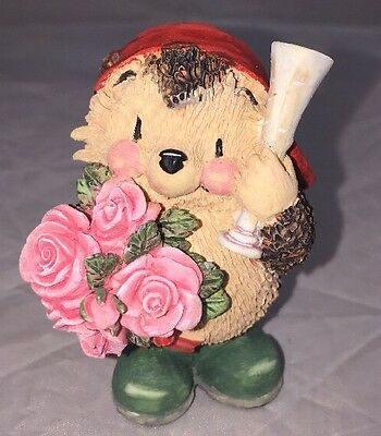 Ed Hedgehog Figurine Champagne Roses G. Fraser Country Companions D