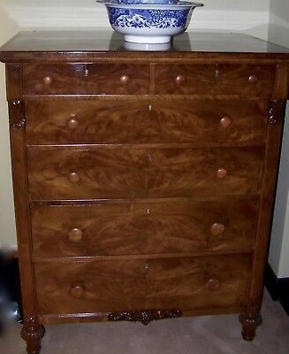 Stunning American Victorian Walnut Tallboy / Chest Of Drawers, Part Of Set