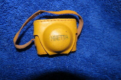 Vintage Minetta Subminiature Camera with leather case * Spy Camera