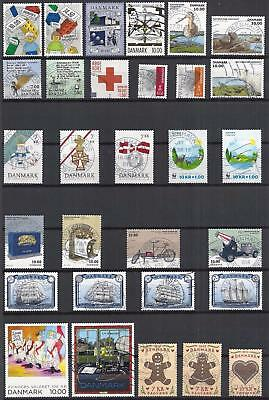 Denmark 2015 - Complete Year Set - Used - Line Of A Pen In 1 Stamp(Semipostal)