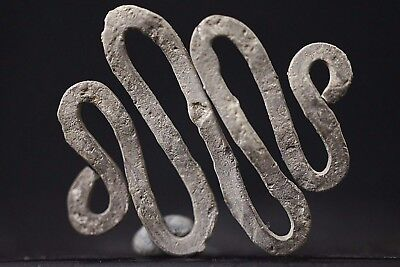 Ancient Viking Silver Amulet depicting Snake / Serpent Creature, ca 950-1000 AD