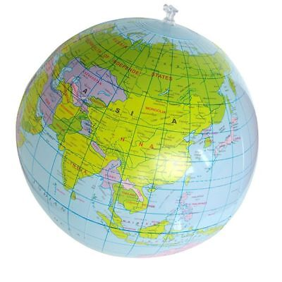 Geography PVC Educational Balloon Ball 40cm World Map Inflatable Globe Toys