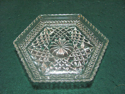 Vintage  Pattern Glass 3 Legged Dish
