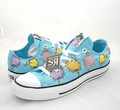 New Mens Womens Converse DR. SEUSS The Lorax All Star Chuck Taylor 128986C Shoes