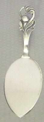 "modernist Denmark 800 Silver CHEESE PASTRY SERVER 5.75"" Scandinavian 35g"