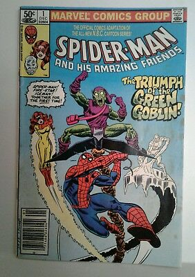 Spider-Man and His Amazing Friends 1981 Marvel Comics #1 comic book