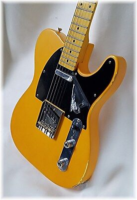 DILLION  Classic butterscotch Tell-e  Lightly aged + fender AG 6 tuner FREE!!