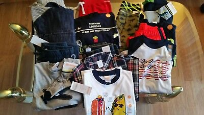 NWT $304 RV Gymboree Boys 17 PCS Size 5T - 5 LOT OUTFITS LONG SLEEVE
