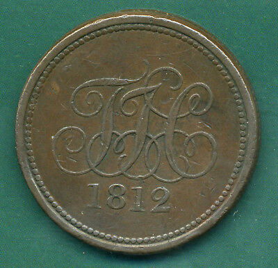 1812 Monmouthshire Tredegar House One Penny Token .