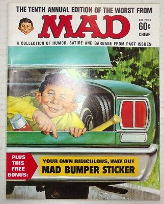 Worst from mad #10 with Mad Bumper stickers still attached VF