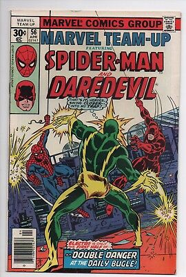 Bronze Age Marvel Team Up 56 Mid Grade Spider-Man Daredevil Combined Shipping