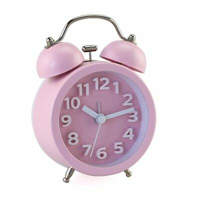 "PiLife 3"" Mini Non-ticking Vintage Classic Bedside/Table Analog Alarm Clock with"