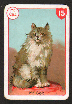 CAT Tabby Victorian Playing Card, Nice Swap Card!