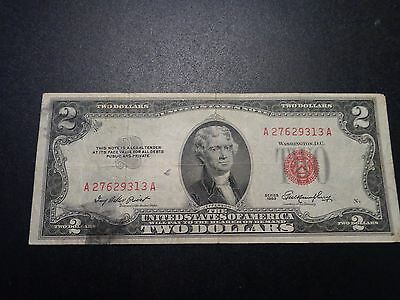 (1) $2.00 Series 1953 United States Note VF Circulated Condition