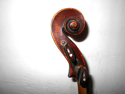 Old Antique Vintage 2 Pc. Back Full Size Violin - No Reserve