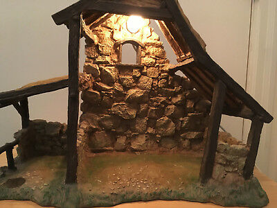"Lighted Stable #50154 for 5"" Fontanini Heirloom Nativities ©1996 Roman (RARE)"