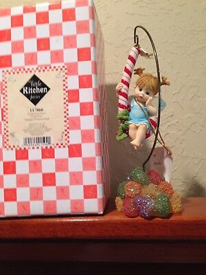 My Little Kitchen Fairies Candy Cane Ornament With Stand/2004/mib