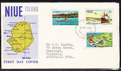 Niue 1970 Airport First Day Cover Add