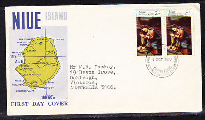 Niue 1970 Christmas First Day Cover Add