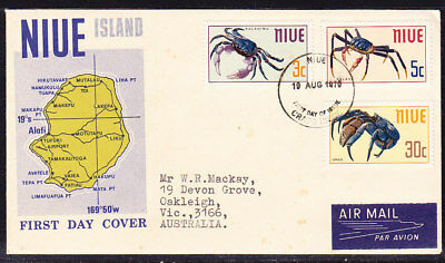 Niue 1970 Crabs First Day Cover Addressed
