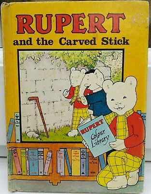 Rupert and the Carved Stick (Small Hardback Book, 1976)