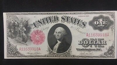 Series 1917 $1 One Dollar United States Note High Grade Large Bill Horse Blanket