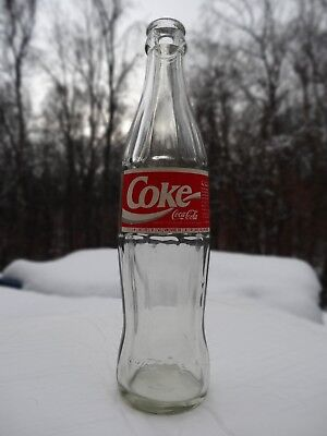 RUSSIAN Coca-Cola (Coke) bottle 1993 paper label, notched expiration date