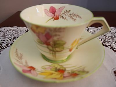 Vintage Art Deco Paragon Cup and Saucer 'Cyclamen'