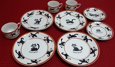 1925 Felix The Cat Plate Cup Saucer Lot Pat Sullivan Rudolstadt Made in Germany