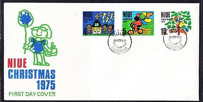 Niue 1975 Christmas First Day Cover Unaddressed
