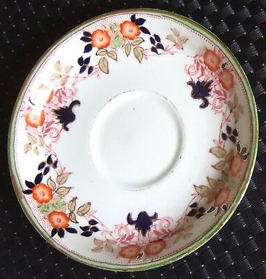 8EARLY 1900s SUTHERLAND CHINA SAUCER - GREEN BORDER    *