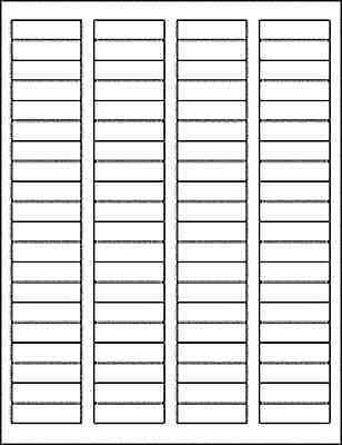 "25 Sheets 2000 Blank Return Address Labels - 1.75"" x .5"" - FREE Shipping!"