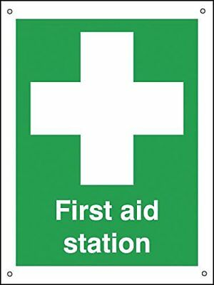 """Signs and Labels AMZFA01333A """"First Aid Station"""" Safe Condition Safety Sign, Alu"""