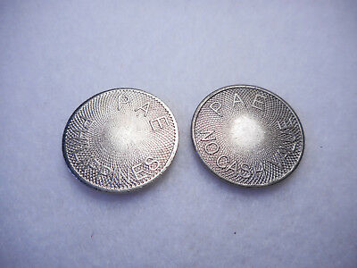 2 PAE No Cash Value U.S. Military Tokens Pacific Architects & Engineer