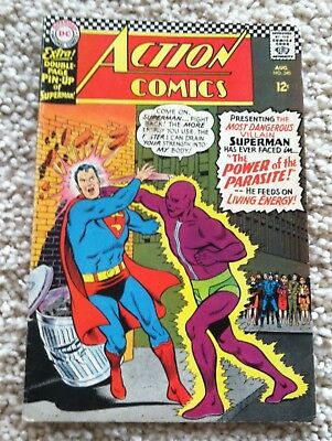 Action Comics Aug 66 #340 Comic Book First Appearance of Parasite Silver Age