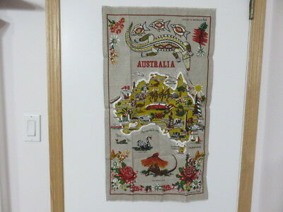 Vintage Souvenir Tea Towel - Australia - (Unused)