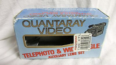 Quantarty Video Telephoto & Wide Angle Aux Lens Set