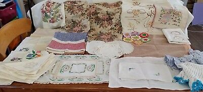 BULK LOT Vintage Retro DOILIES ANTIMACASSAR NAPKINS for Craft Sew Projects