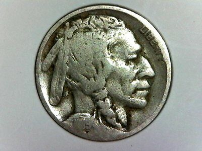 1919 S US 5C Five Cents Buffalo Nickel Coin