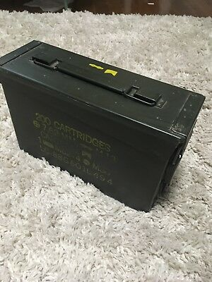30 Cal Ammo Can Box  Army Military M19A1 Metal Storage 7.62 MM Great Condition!!