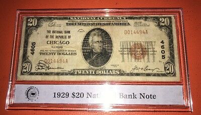 1929 20 national bank note
