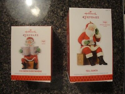 Hallmark Keepsake Magic Ornament Lot of 2 Magic Santa Ornaments