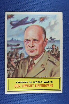 1965 Topps Battle Cards - #64 General Dwight Eisenhower - VG Condition