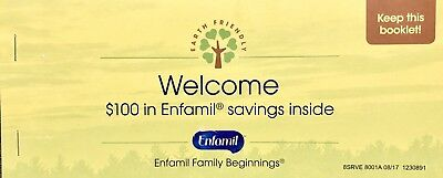 $100 Enfamil Baby Formula Coupon Checks - Booklet Contains 20 $5 Coupon Checks