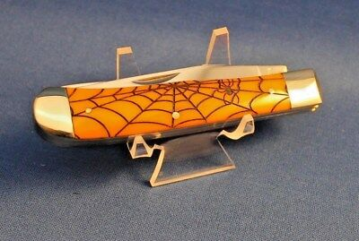 New Spider Web knife Buck Mountain brand pocket knives Orange handle Halloween