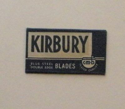 Vintage Made in USA Razor Blade KIRBURY