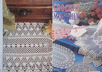 Crochet Monthly Pattern Book 89- Doilies, Table Cloth,bed Work,bedspread.
