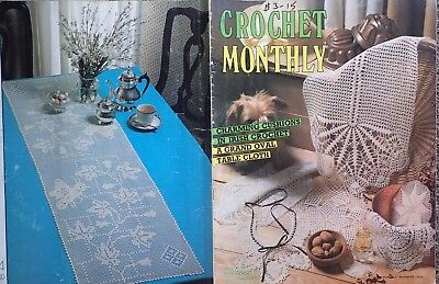 Crochet Monthly Pattern Book  83- Cushions ,doilies,tablecloth, Etc