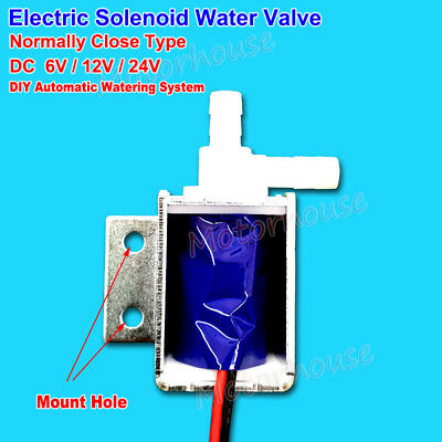 DC 12V 24V Mini Electric Solenoid Valve Normally Closed Watering Control Valve