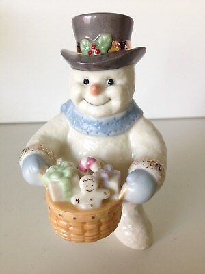 LONGABERGER Lenox Holiday Delivery Snowman Limited Edition ... hard to find